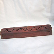 Wood Display Box with Pierced Design on Lid