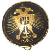 Small Round Spanish Damascene Pill Box