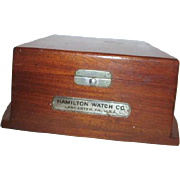 Hamilton Watch Co Display Box for Compass/Barometer/Chronometer