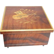 Italian Inlaid Marquetry Music Box with Swiss Movement
