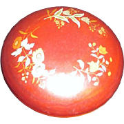 Maruni Lacquerware Round Lidded Box with Antique Tiny Dolls