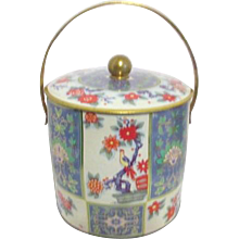 Pail Shaped Biscuit Tin Made in England