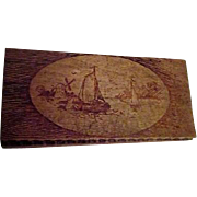 Hand Made and Crafted Wood Box with Wood Burned Art