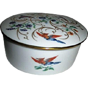 Porcelain Limoges Round Lidded Box