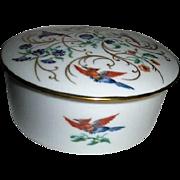 Porcelain Limoges Round Lidded Box
