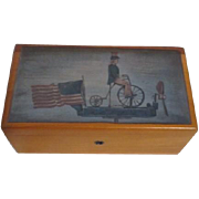 Lane Furniture Miniature Presentation Cedar Chest with Uncle Sam on Lid