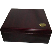 Cherry Wood Humidor by Thompson & Co with Hydrometer