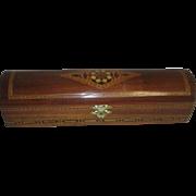 Wooden Presentation Box with Inlaid Center Design
