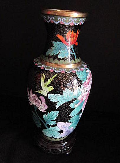 Vintage Cloisonne Vase Mid 20th century