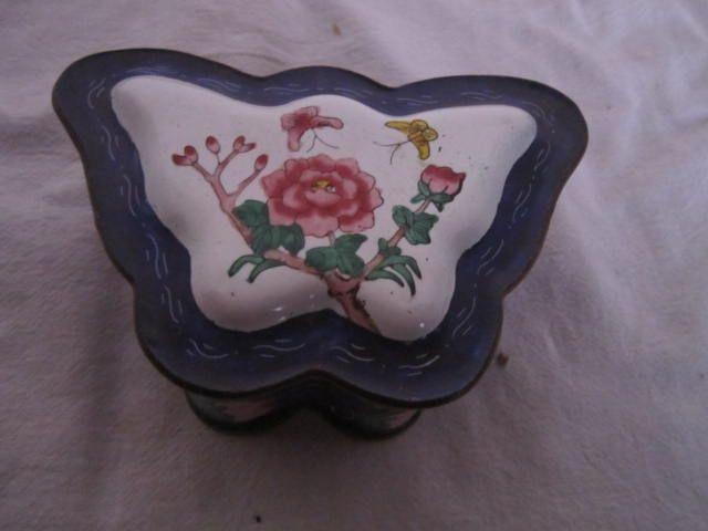 Vintage Chinese Enamel Trinket Box