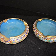 Vintage Cloisonne Pair of Ash trays