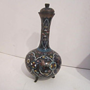Antique Japanese Cloisonne Jar with Lid