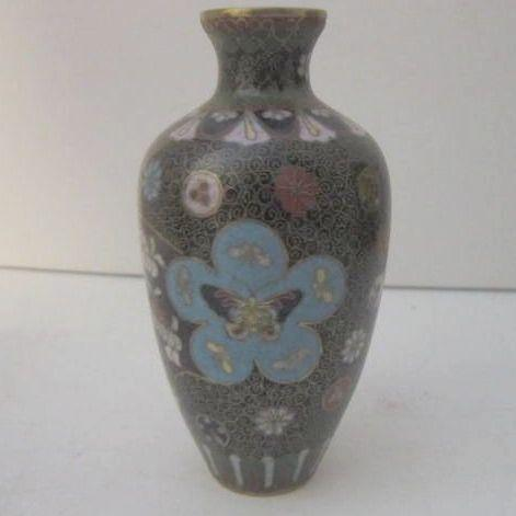 Vintage Japanese Cloisonne Vase Antique
