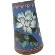 Cloisonne Container or Small Vase