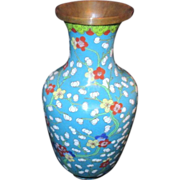 Chinese Cloisonne Brass Vase from 1930's