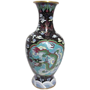 Chinese Cloisonne Vase with Two Dragons