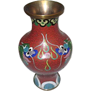 Cloisonne Vase with Two Dragons and the Pearl of Wisdom