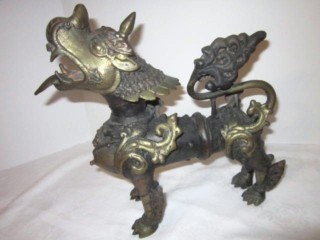 Antique Tibetan Bronze Temple Dog
