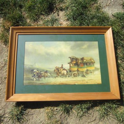 Vintage Print The Calais Express By Charles Henderson