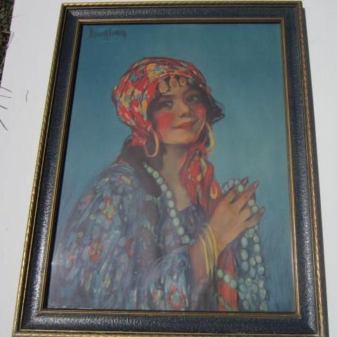 "Vintage Print ""Zita"" from the Painting by M.E. Markham no. 1306"