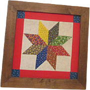 Framed Quilt Square Star Pattern