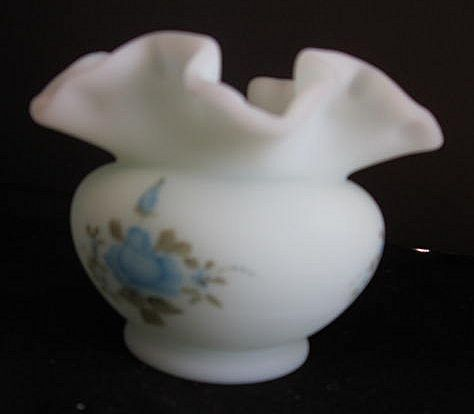 Vintage Fenton Hand Painted Art Glass Signed by N. Kuhne