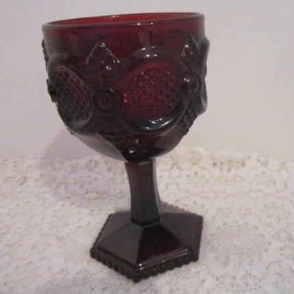 Vintage Avon Cape Cod Water Goblet