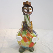 Vintage Glass Clown/Flask
