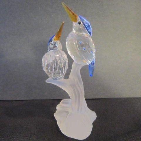 Swarovski Miniature Malachite Kingfishers