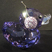 "Swarovski Miniature ""Duck J"" From the happy Ducks Collection"