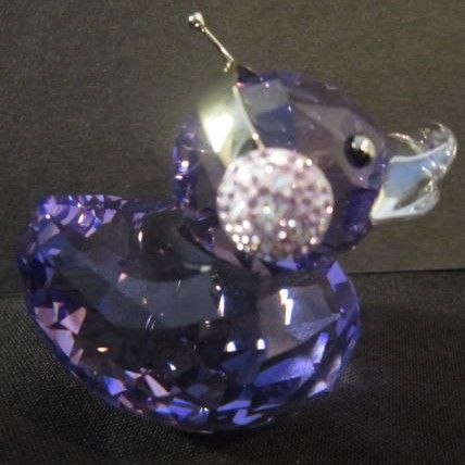 """Swarovski Miniature """"Duck J"""" From the happy Ducks Collection"""