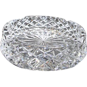 Heavy Cut Crystal Ashtray or Candy Dish