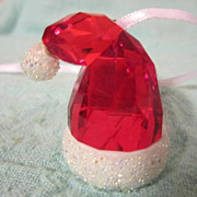 Swarovski Miniature Santa's Hat Ornament Item # 0944873