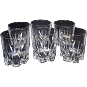 Set of 6 Crystal Old-Fashioned Size Glasses