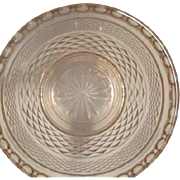 Miss America Pink Depression Glass Divided Relish Plate