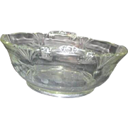 Clear Etched Elegant Glass Heisey Double Handled Bowl