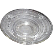 Clear Glass Bowl with Etched Flowers