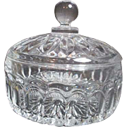 Heavy Lead Clear Crystal Covered Candy Dish