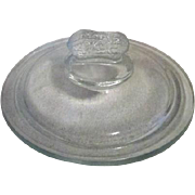 Clear Glass Lid with Peanut Handle for Peanut Jar