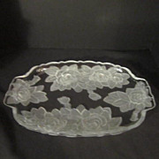 Vintage Studio Nova Winter Rose Oblong Handled Serving Tray
