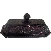 Avon Ruby Red Cape Cod Covered Butter Dish