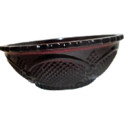 Avon Ruby Red Cape Cod Serving Bowl