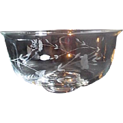 Princess House Hand Blown Crystal Heritage Pattern Bowl