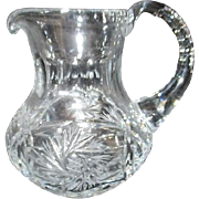 Small Heavy Crystal Pitcher