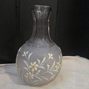 Vintage Etched Glass Water Carafe