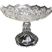 Pressed Glass Footed Candy Dish