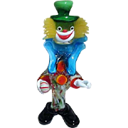 Murano Art Glass Standing Clown from Italy