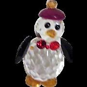 Iris Arc Multi-faceted Penguin with Hat
