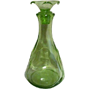 Uranium Green Glass Decanter with Stopper