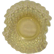 Fenton Topaz  Opalescent Hobnail Ruffled Edge Small Bowl